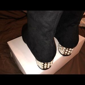 Pearled Boots